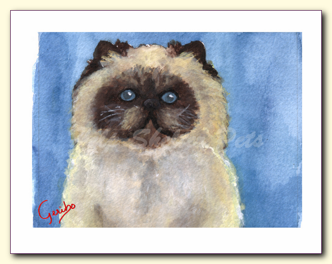 himalayan cat notecard by dj geribo at help shelter pets detail image