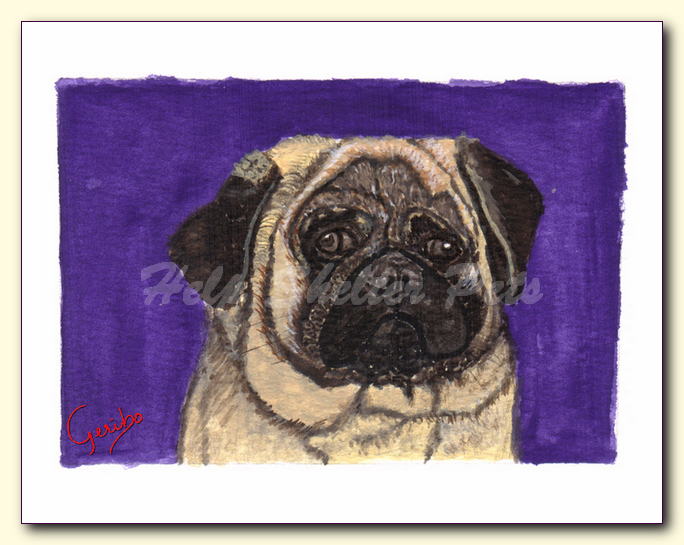 pug notecard by dj geribo at help shelter pets detail image