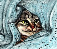 phoca thumb l cat-in-blanket-painting-by-artist-dj-geribo